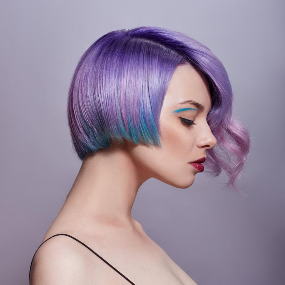 Purple Hair Dressing